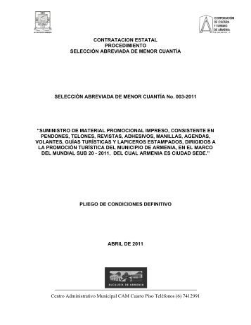 Centro Administrativo Municipal CAM Cuarto Piso Teléfonos (6 ...