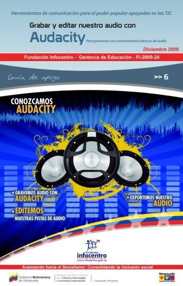 Audacity - Fundación Infocentro