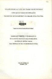 um estudo econometrico do brasil e da polônia - Sistema de ...