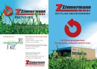 RECYCLING UND ENTSORGUNG - ZIMGROUP AG transport ...
