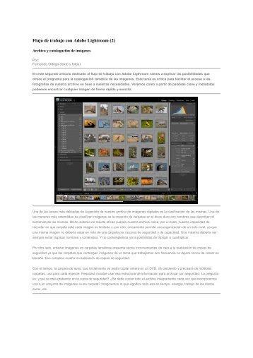 Flujo de trabajo con Adobe Lightroom (2) - agrupacion fotografica l ...
