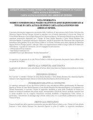 ESTRATTI DELLE POLIZZE INFORTUNI VIAGGI ... - American Express