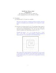 MATH 341 Winter 2013 Assignment 3 Due Wednesday March 6th by ...