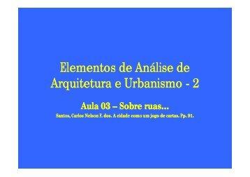 Aula 3 - sobre ruas R.pdf - Arquitetura e Urbanismo