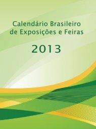 Calendário Brasileiro de Exposições e Feiras 2013 - BrasilGlobalNet