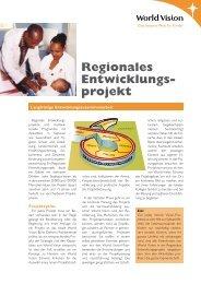 Regionales Entwicklungs- projekt - World Vision Schweiz