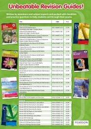 Unbeatable Revision Guides! - Pearson Schools