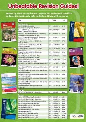 Unbeatable Revision Guides! - Pearson Schools