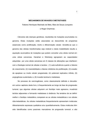 MECANISMOS DE INVASÃO E METÁSTASES