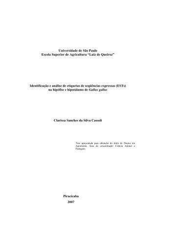Identificação e análise de etiquetas de seqü - Embrapa Suínos e Aves