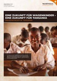 EinE Zukunft für tansania - World Vision Schweiz