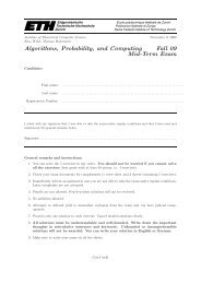 Algorithms, Probability, and Computing Fall 09 Mid-Term Exam
