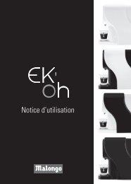 Notice d'utilisation - Ek'Oh - Malongo