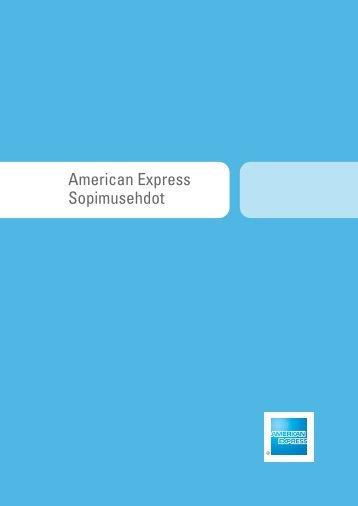 American Express -kortin hyväksymisehdot