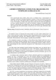 amores expressos: literatura brasileira em tempos de ... - Abralic