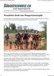 Westafrika droht eine Hungerkatastrophe, In ... - World Vision Schweiz