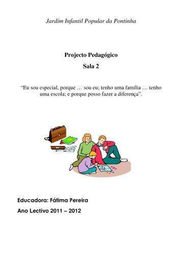 Jardim Infantil Popular da Pontinha Projecto Pedagógico Sala 2