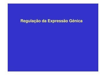 Regulação da Expressão Gênica - Laboratório de Biologia - IFSC