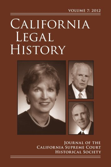 California Legal History - Berkeley Law