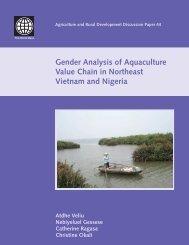Gender Analysis of Aquaculture Value Chain in Northeast Vietnam and Nigeria