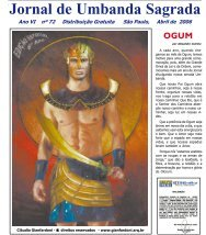Ano 7 Ed 072 Abr 2006 - Colégio de Umbanda Sagrada Pena Branca