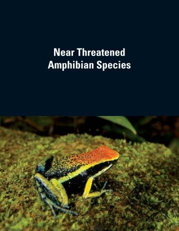 Near Threatened Amphibian Species - Amphibian Specialist Group