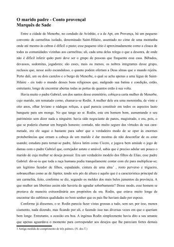 O marido padre - Conto provençal Marquês de Sade - Esquerda.net