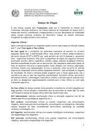 Doença de Chagas - Diretoria de Vigilância Epidemiológica