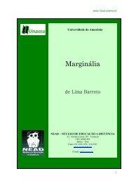 Marginália, de Lima Barreto - Editora letras & letras