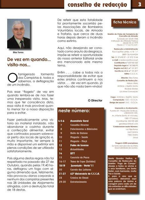 Nº 216 Dezembro 2011 - Clube de Campismo do Concelho de ...