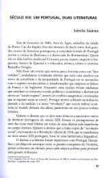 Século XIX: um Portugal duas literaturas - EDNILO SOÁREZ