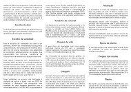 Escolha da variedade Escolha da área Tamanho do canavial ...