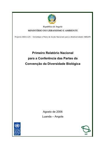 Primeiro Relatório Nacional para a Conferência das Partes