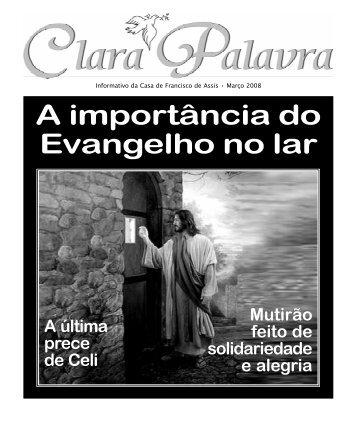 A importância do Evangelho no Lar (2) - Casa de Francisco de Assis