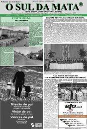 EDITORIAL - Jornal O SUL DA MATA