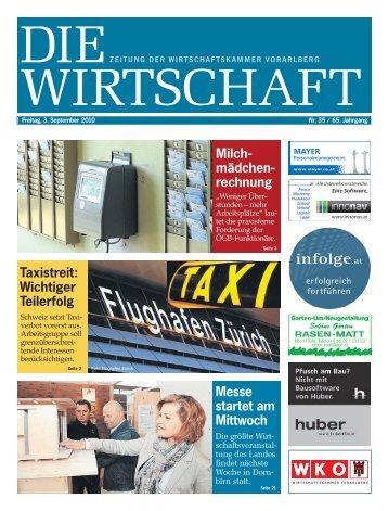Die Wirtschaft Nr. 35 vom 3. September 2010