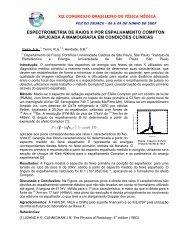 Espectrometria de Raios X por espalhamento Compton aplicada