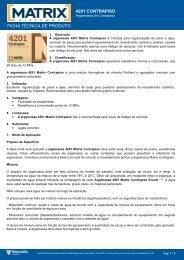 FICHA TÉCNICA DE PRODUTO 4201 ... - MAPA DA OBRA
