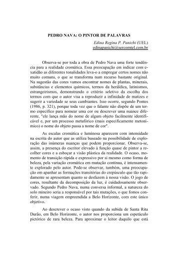 PEDRO NAVA: O PINTOR DE PALAVRAS Edina Regina P. Panichi ...