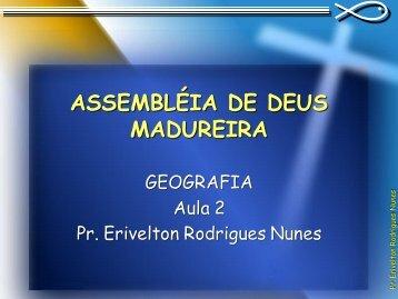 Geografia Bíblica - Aula 2 - Pr. Erivelton ... - Erivelton.com.br