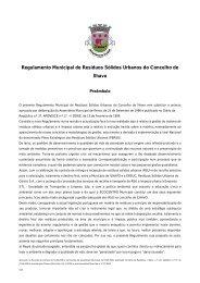 Regulamento Municipal de Resíduos Sólidos Urbanos do Concelho ...