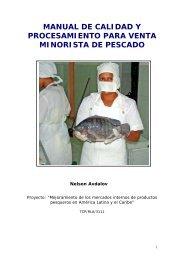 Manual para el mercado interno de productos pesqueros - FAO ...