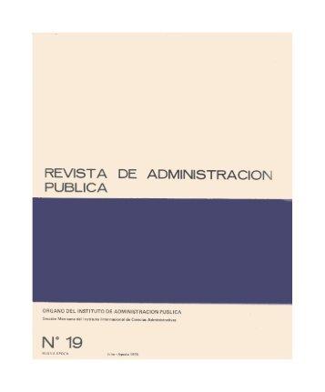 19) revista de administración pública - Inap