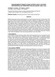 Sensoriamento Remoto Como Suporte Para a ... - INPE/OBT/DGI