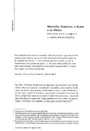 Nietzsche, Espinosa, o Acaso - O Que Nos Faz Pensar