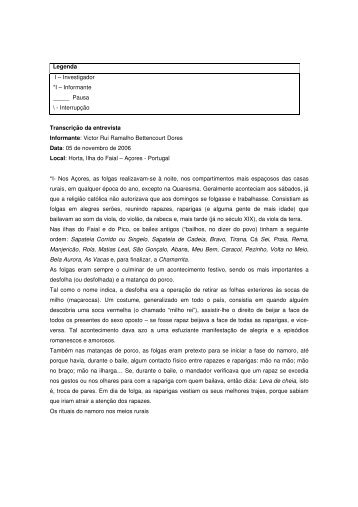 Informante Victor Rui Ramalho Bettencourt - UTL Repository ...