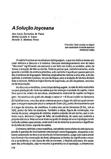 A Solução Joyceana - Escola Letra Freudiana