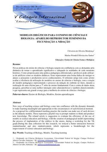 modelos didáticos para o ensino de ciências e biologia: aparelho ...
