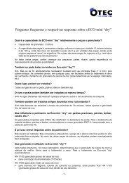 Perguntas frequentes e respectivas respostas sobre a ECO ... - OTEC