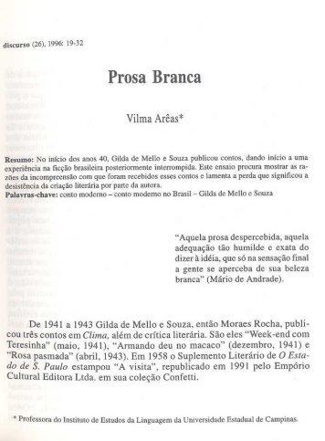 Prosa Branca - fflch - USP
